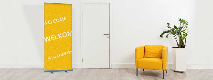 rollup banners wachtkamer